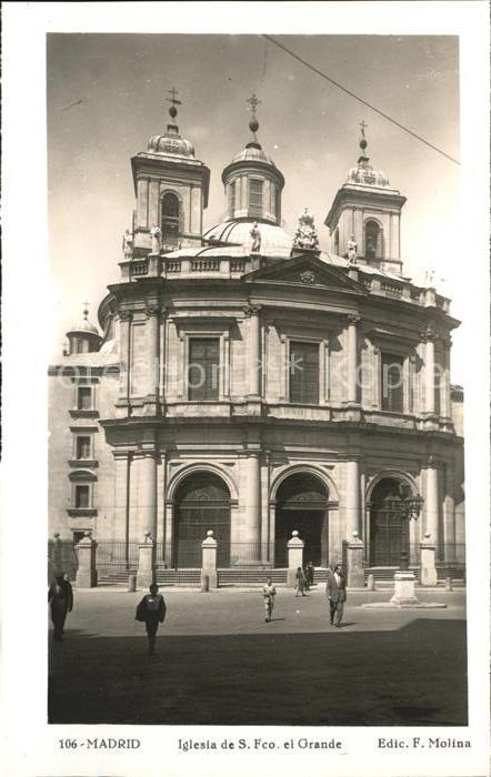 Madrid Spain Iglesia de S. Fco. el Grande  Kat. Madrid
