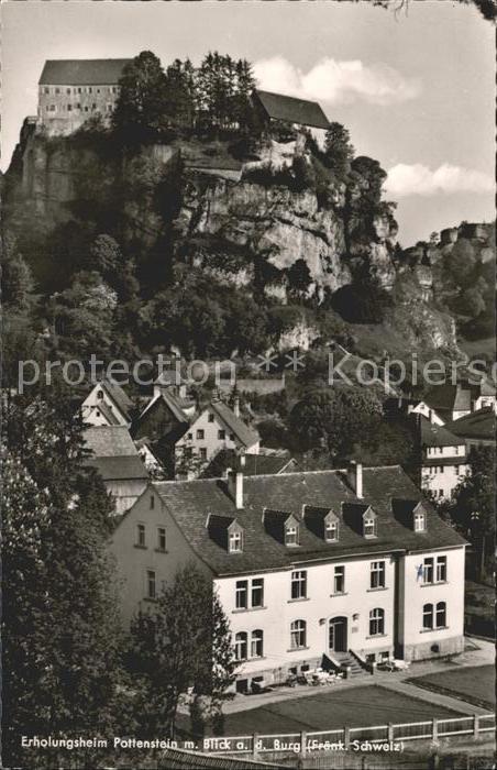 Pottenstein Oberfranken Erholungsheim Blick Burg  / Pottenstein /Bayreuth LKR