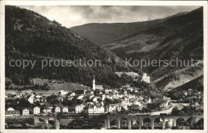 Landeck Tirol Ortsansicht Bruecke Kat. Landeck