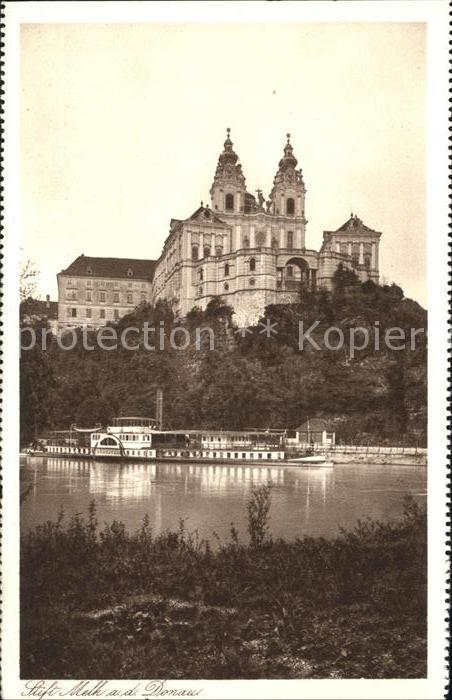 Melk Donau Stift Urate Babenbergerresidenz Dampfer Kat. Melk Wachau