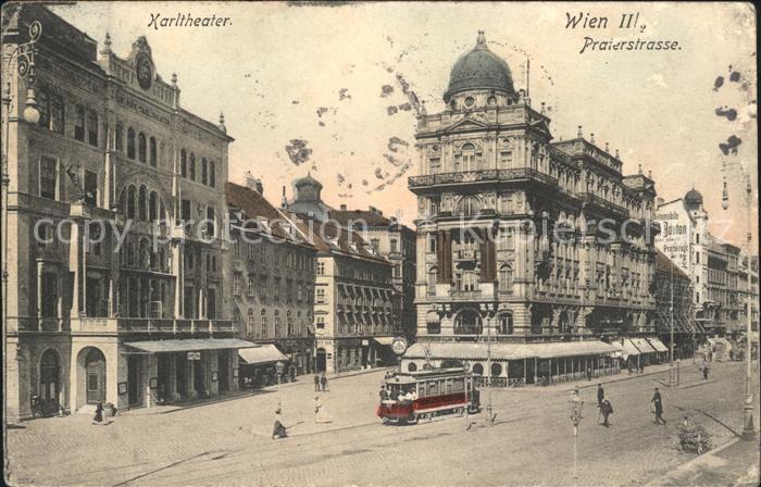 Wien Praterstrasse Karltheater Kat. Wien