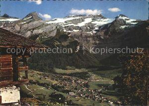 Les Diablerets Aigle Vue generale et Alpes Vaudoises Kat. Les Diablerets