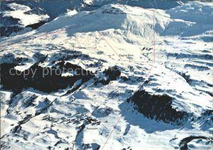 Piz Mundaun Fliegeraufnahme Skigebiet Kat. Piz Mundaun