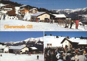 Urmein Skigebiet am Heinzenberg mit Bergrestaurant Skihuette Kat. Urmein