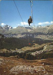 Pontresina Sessellift Alp Languard Kat. Pontresina