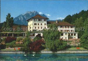 St Niklausen LU Hotel am See Schwaene Kat. St Niklausen LU