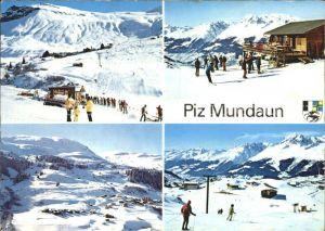 Piz Mundaun Skigebiet Piz Mundaun Teilansichten Kat. Piz Mundaun