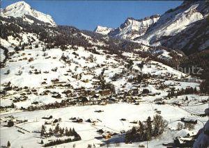 Les Diablerets Aigle Vue generale de la Station en direction du Col du Pillon Kat. Les Diablerets