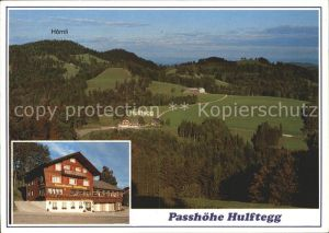 Muehlrueti Gasthaus Passhoehe Hulftegg mit Hoernli Kat. Muehlrueti