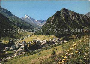 Samnaun Dorf mit Muttler Kat. Samnaun Dorf