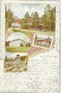 Bad Alexandersbad Kaltwasserheilanstalt x 1897 / Bad Alexandersbad /Wunsiedel LKR