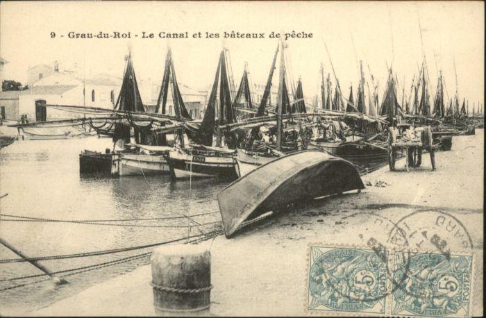 Le Grau-du-Roi Gard Le Grau-du-Roi Canal Bateaux Peche x / Le Grau-du-Roi /Arrond. de Nimes