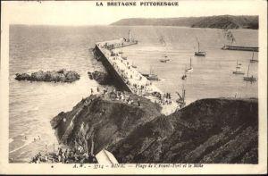 Binic Cotes d Armor Plage Avant Port Mole x / Binic /Arrond. de Saint-Brieuc