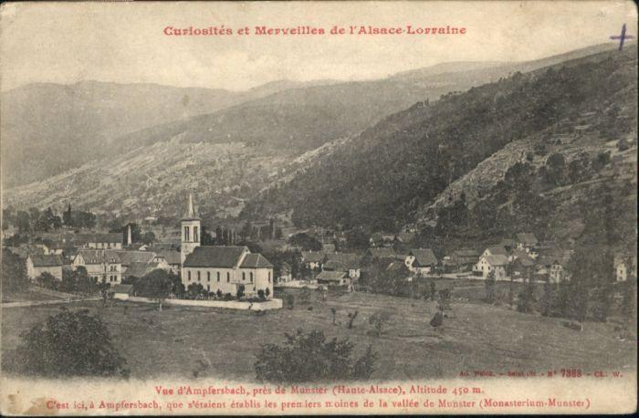 Ampfersbach Haut-Rhin Curiosites Merveilles Alsace Lorraine * / Stosswihr /Arrond. de Colmar