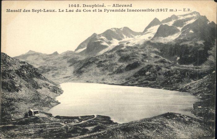 Allevard les Bains Isere Massif des Sept-Laux Le Lac du Cos La Pyramide Inaccessible * / Allevard /Arrond. de Grenoble