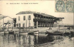 Le Grau-du-Roi Gard Le Grau-du-Roi Canal Bassin Schiff x / Le Grau-du-Roi /Arrond. de Nimes
