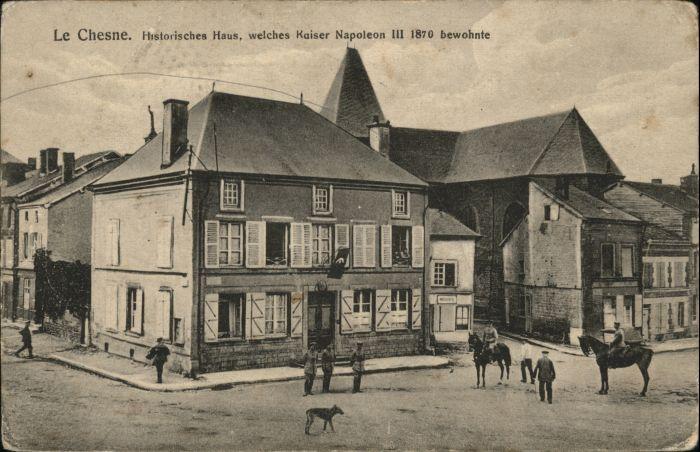 Le Chesne Ardennes Le Chesne Soldaten Pferd Hund x / Le Chesne /Arrond. de Vouziers