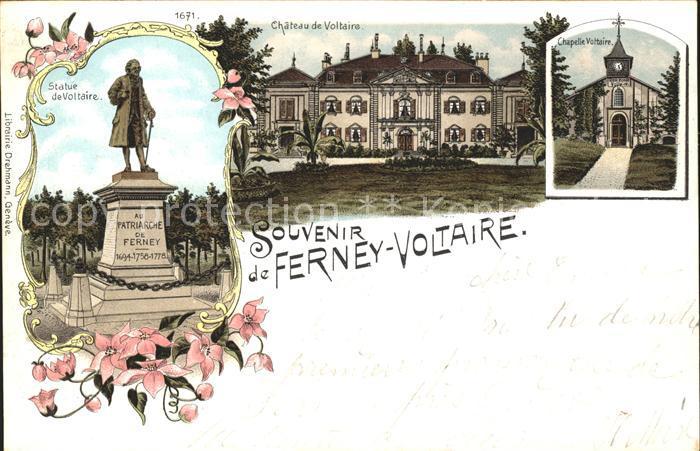 Ferney Voltaire Chteau de Voltaire Statue de Voltaire Chapelle Kat. Ferney Voltaire