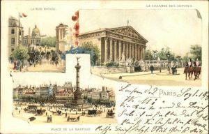 Paris La Rue Royale La Chambre des Deputes Place de la Bastille Kat. Paris