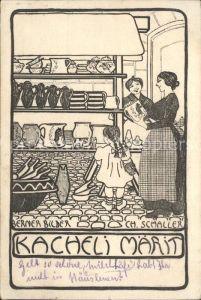 Bern BE Kacheli Maerit Originalfederzeichnung von Ch. Schaller Kat. Bern
