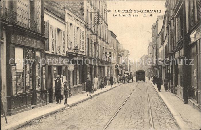 Le Pre Saint Gervais La Grande rue Kat. Le Pre Saint Gervais