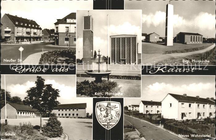 Kaarst Neusser Str Ev und Kath Pfarrkirche Schule Wohnviertel Kat. Kaarst