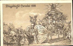 Duesseldorf Carneval 1899 Kat. Duesseldorf
