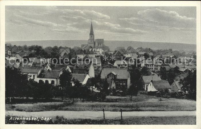 Altenkessel Ortsansicht mit Kirche Kat. Saarbruecken