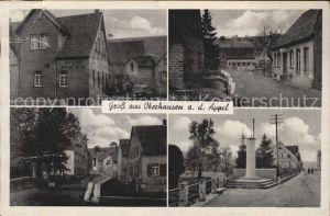 Oberhausen Appel Kolonialwaren und Gasthaus Strassenpartie Kat. Oberhausen an der Appel