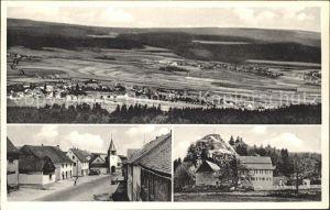 Kempfeld am Fusse der Wildenburg Panorama Strassenpartie Kat. Kempfeld