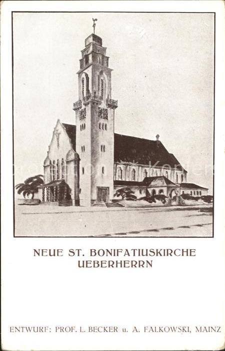 ueberherrn Neue St Bonifatiuskirche Kat. ueberherrn