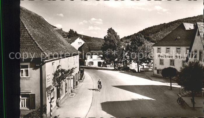Muggendorf Fraenkische Schweiz Marktplatz Kurort Gasthaus Goldner Stern Kat. Wiesenttal