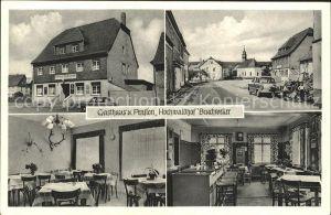 Bruchweiler Birkenfeld Gasthaus Pension Hochwaldhof Strassenpartie Kat. Bruchweiler