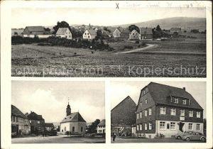 Bruchweiler Birkenfeld Gesamtansicht Gasthof Pension zum Hochwald Kirche Kat. Bruchweiler