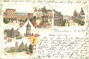 Mannheim Schloss Kaiser Wilhelm Denkmal Hoftheater Wasserturm Post Stadtpark Reichspost Kat. Mannheim