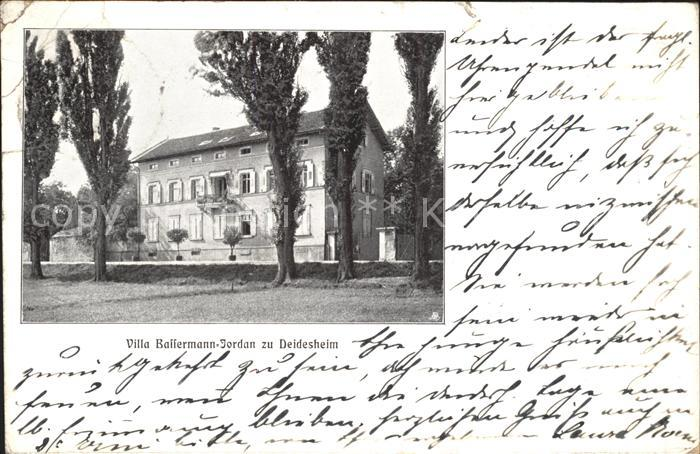 Deidesheim Villa Bassermann Jordan zu Deidesheim Kat. Deidesheim