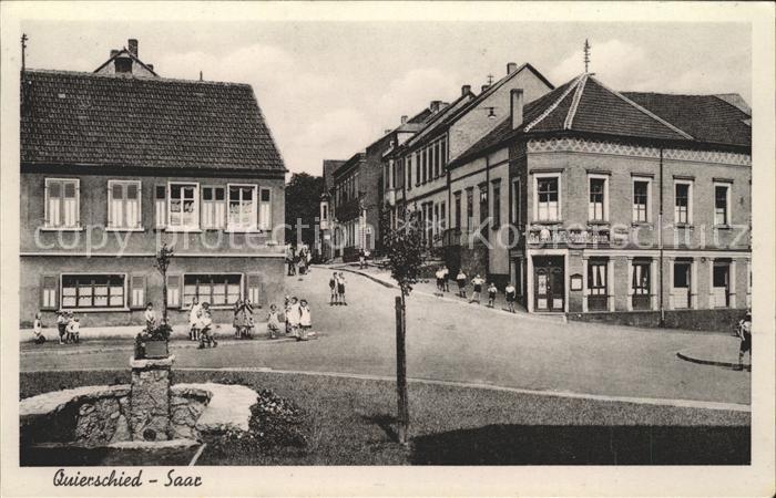 Quierschied Strassenpartie Brunnen Kat. Quierschied