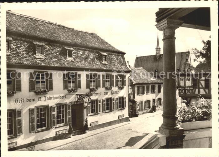 Deidesheim Gasthaus Zur Kanne Historisches Gebaeude 12. Jhdt. Kat. Deidesheim