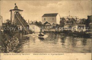 Mannheim Internationale Kunst und Grosse Gartenbau Ausstellung 1907 Jubilaeumsausstellung Wasserrutschbahn Vergnuegungspark Kat. Mannheim