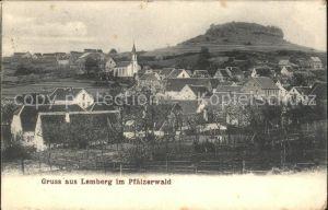 Lemberg Pfalz Ortsansicht mit Kirche Pfaelzerwald Kat. Lemberg