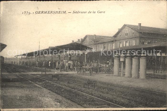 Germersheim Interieur de la Gare Bahnhof Kat. Germersheim