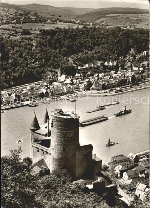 St Goar mit St Goarshausen Burg Katz Kat. Sankt Goar