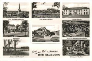 Bad Segeberg Kalkberg Jugendherberge Marktplatz Natur Festspielplatz Kurhaus Fliegeraufnahme Kat. Bad Segeberg