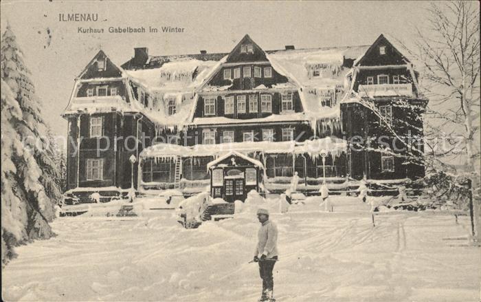 Ilmenau Thueringen Kurhaus Gabelbach im Winter Kat. Ilmenau