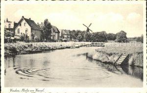 Emden Ostfriesland Partie am Kanal Windmuehle / Emden /Emden Stadtkreis