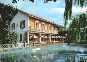 Saint Alexandre Gard Rhodanien Vieux Moulin Hotel Restaurant Schwanenteich Kat. Saint Alexandre