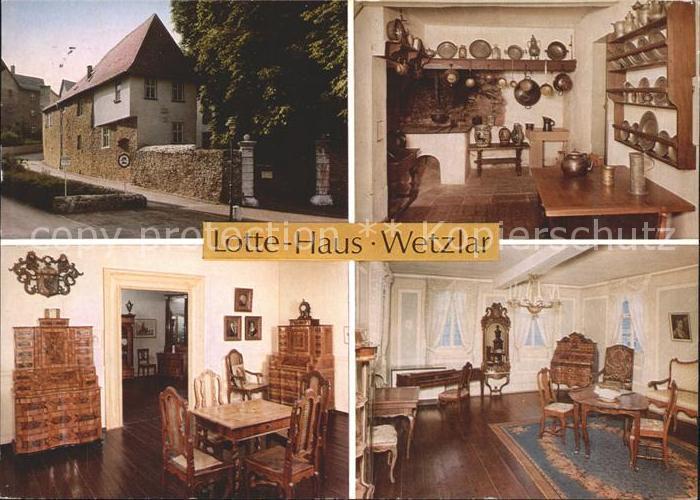 Wetzlar Lotte Haus Museum Moebel Zinnteller Kat. Wetzlar