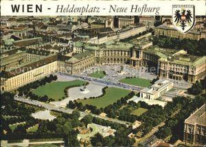 Wien Heldenplatz Neue Hofburg Fliegeraufnahme  Kat. Wien