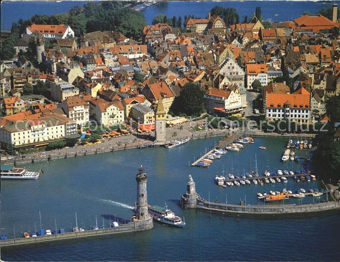 Lindau Bodensee Hafen Dampfer Leuchtturm Kat. Lindau (Bodensee)