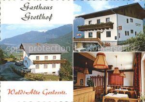 Wald Pinzgau Gasthaus Gretlhof  Kat. Wald im Pinzgau